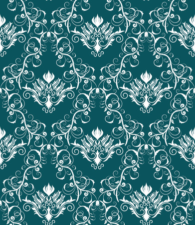 Damask seamless vector background.  For easy making seamless pattern just drag all group into swatches bar, and use it for filling any contours. Stock Vector - 5910804