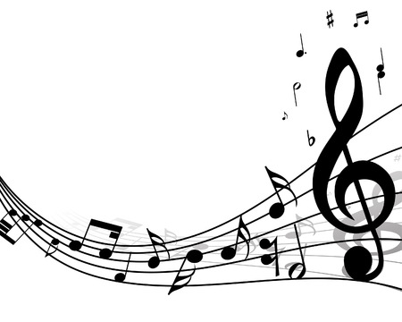 pentagrama musical: Vector musical toma nota de antecedentes de personal para el uso de dise�o