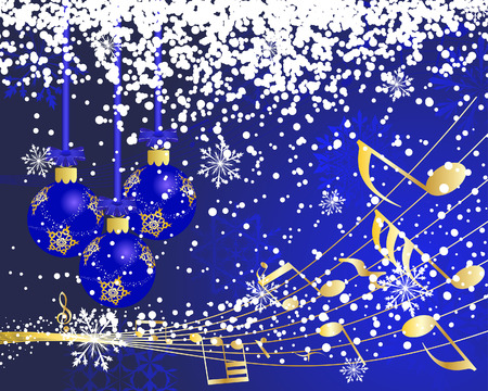 Beautiful vector Christmas (New Year) background for design use Stock Vector - 5935368