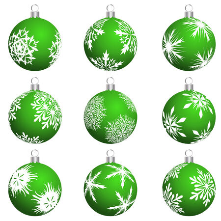 golden years series: Set of Christmas (New Year) balls for design use. Vector illustration.