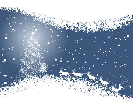 Beautiful vector Christmas (New Year) background for design use Stock Vector - 5935355
