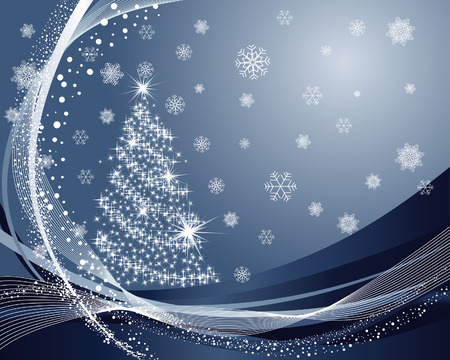 Beautiful vector Christmas (New Year) background for design use Stock Vector - 5935377