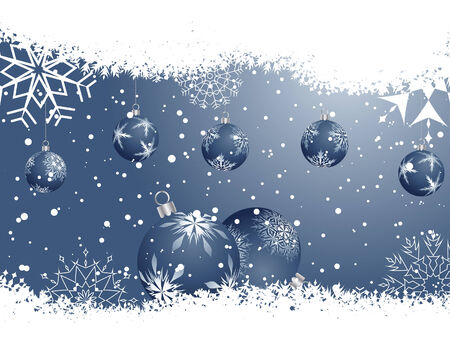 Beautiful vector Christmas (New Year) background for design use Stock Vector - 5935362