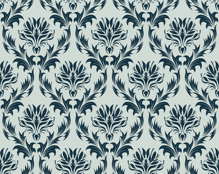 Damask seamless vector background.  For easy making seamless pattern just drag all group into swatches bar, and use it for filling any contours. Stock Vector - 5935351