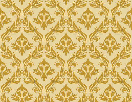 Damask seamless vector background.  For easy making seamless pattern just drag all group into swatches bar, and use it for filling any contours. Stock Vector - 5935338
