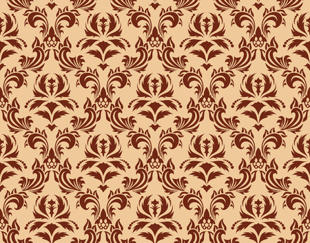 Damask seamless vector background.  For easy making seamless pattern just drag all group into swatches bar, and use it for filling any contours. Stock Vector - 5935349