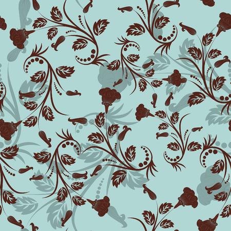 Naadloze vector bloem achtergrond. Sleep alle groep in stalen bar voor eenvoudig maken naadloze patroon gewoon en gebruiken voor het invullen van alle contouren.