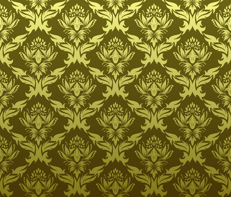 Damask seamless vector background.  For easy making seamless pattern just drag all group into swatches bar, and use it for filling any contours. Stock Vector - 5983331