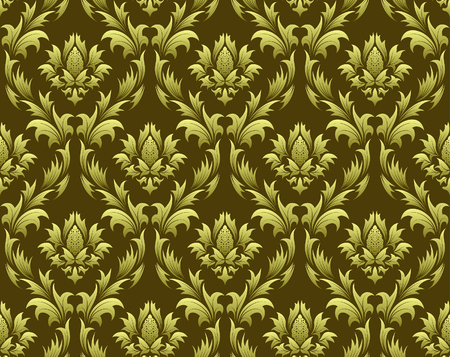 Damask seamless vector background.  For easy making seamless pattern just drag all group into swatches bar, and use it for filling any contours. Stock Vector - 5983329