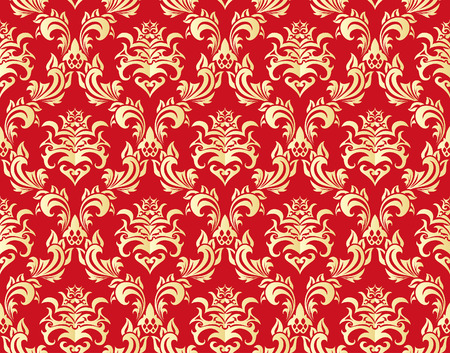 Damask seamless vector background.  For easy making seamless pattern just drag all group into swatches bar, and use it for filling any contours. Illustration