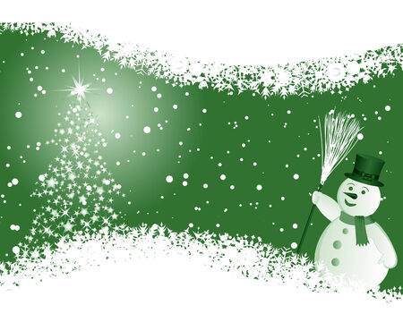 Beautiful vector Christmas (New Year) background for design use Stock Vector - 5983504