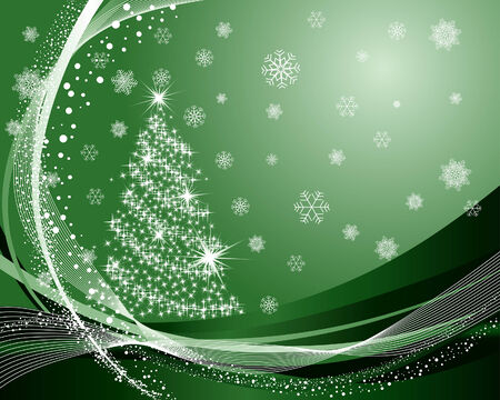 Beautiful vector Christmas (New Year) background for design use Stock Vector - 5983496