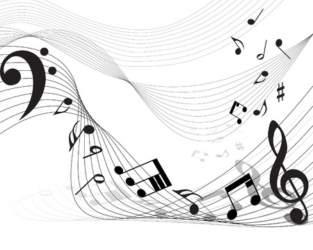Vector musical notes staff background for design use Stock Vector - 5983434