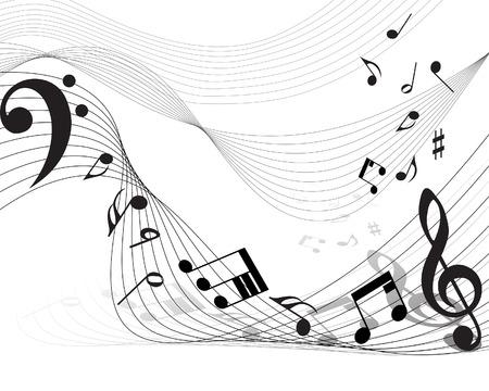 Vector musicale personale note informative per l'uso di design