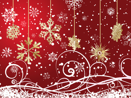 Beautiful vector Christmas (New Year) background for design use Stock Vector - 5983501