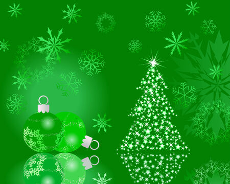 Beautiful vector Christmas (New Year) background for design use Stock Vector - 6020139