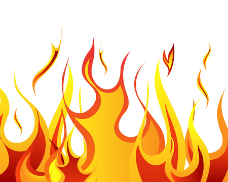 fiery: Inferno fire vector background for design use Illustration