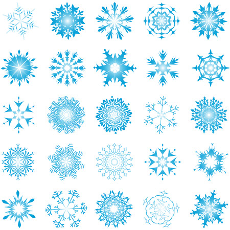 Collection of vector snowflakes in different shape Stock Vector - 6020114