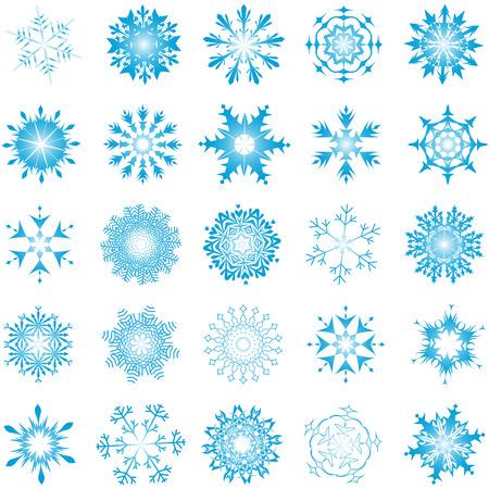 Sammlung von Vektor-Schneeflocken in andere Form