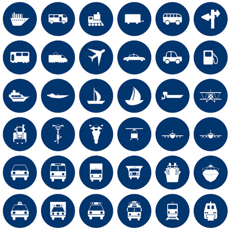 Transportation set of different vector web icons Stock Vector - 6020112