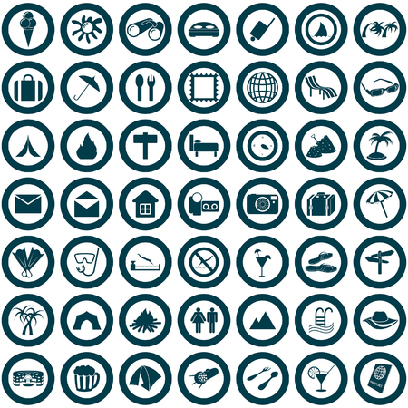 Travel set of different vector web icons Vector