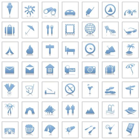 bistro: Travel set of different vector web icons