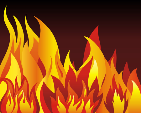 tongues: Inferno fire vector background for design use Illustration