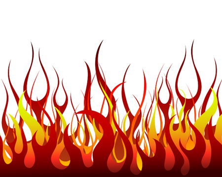inferno: Inferno fire vector background for design use Illustration