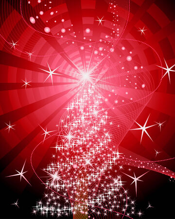 Beautiful vector Christmas (New Year) background for design use Stock Vector - 6021024