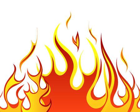Inferno brand vector achtergrond ontwerp gebruikt  Vector Illustratie