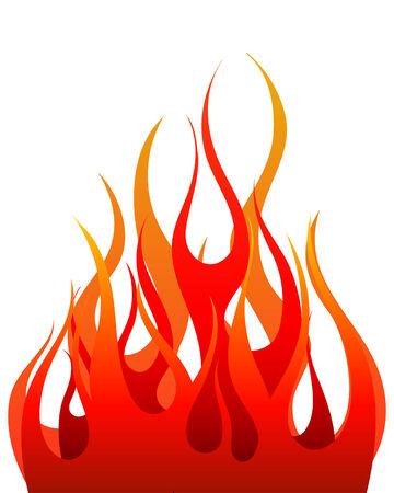 デザイン用のインフェルノ火のベクトルの背景