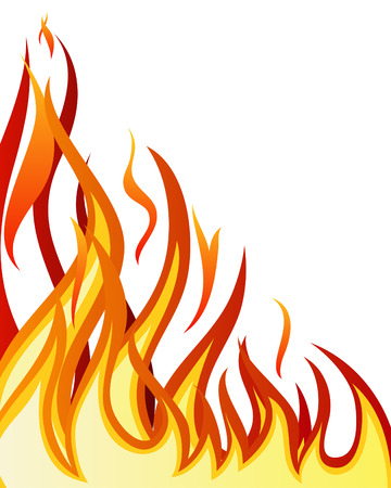 Inferno fire vector background for design use Illustration