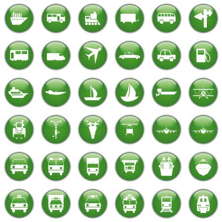 motor officer: Transportation set of different vector web icons
