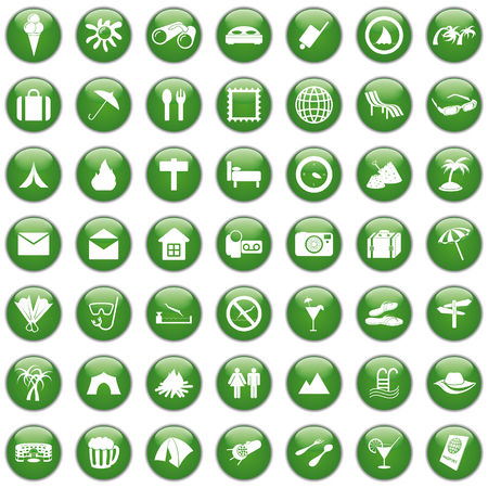 Travel set of different web icons Stock Vector - 6049171