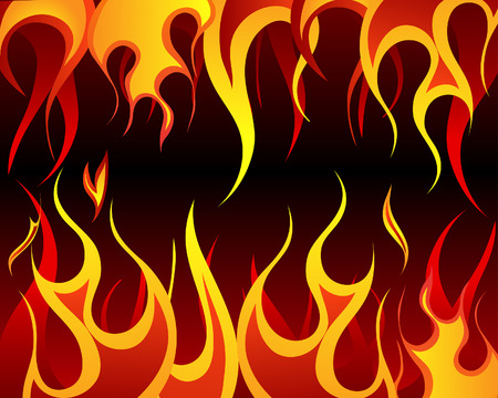 Inferno fire vector background for design use Vector