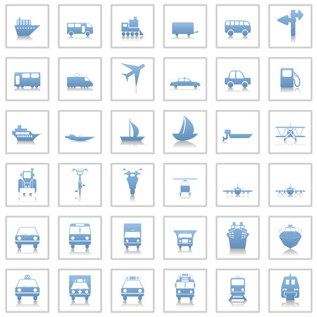Transportation set of different vector web icons Stock Vector - 6052299