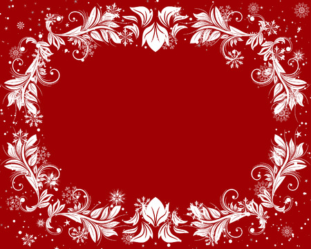 Vector Christmas (New Year) frame for design use Vector