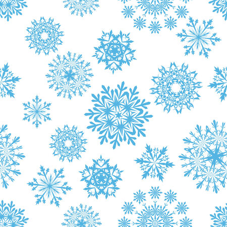 Seamless snowflakes background for winter and christmas theme Stock Vector - 6052308