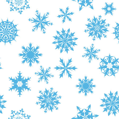 Seamless snowflakes background for winter and christmas theme Stock Vector - 6052297