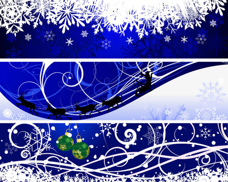 Vector Christmas (New Year) banners for design use Vector