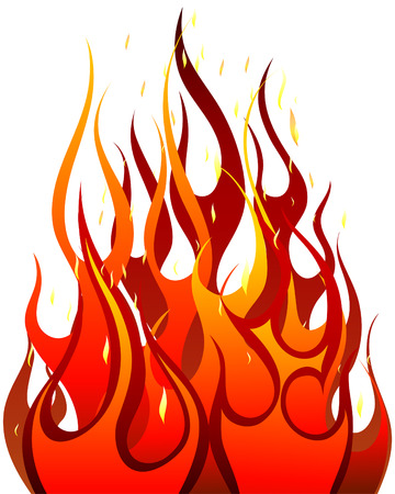 blazing: Inferno fire vector background for design use Illustration