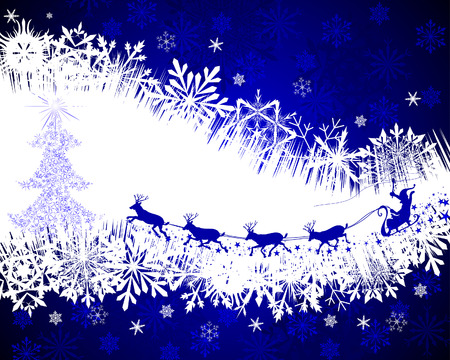 Beautiful vector Christmas (New Year) background for design use Stock Vector - 6071216