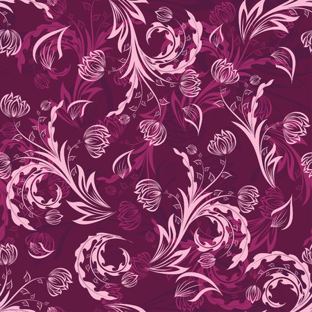 Seamless vector floral background. For easy making seamless pattern just drag all group into swatches bar, and use it for filling any contours. Stock Vector - 6071209
