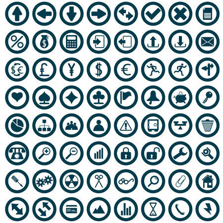 Biggest collection of different icons for using in web design Stock Vector - 6079185