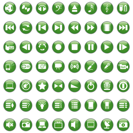 Vector collection of different music themes icons Stock Vector - 6079195