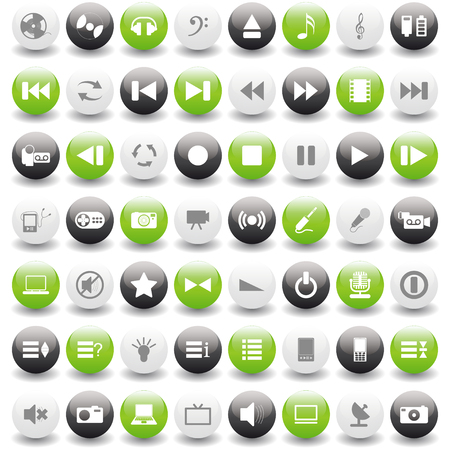 Vector collection of different music themes icons Stock Vector - 6079189
