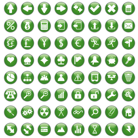 Biggest collection of different icons for using in web design Stock Vector - 6092681