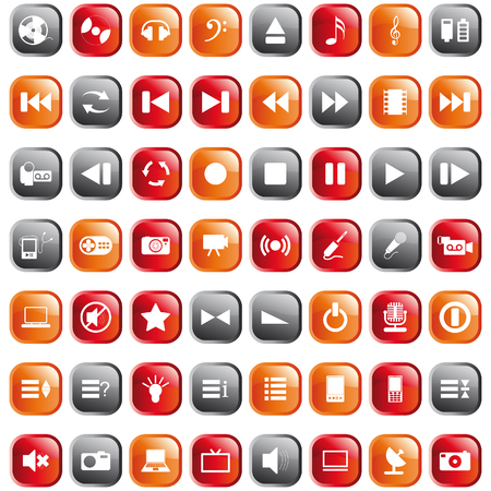 note pc: Vector collection of different music themes icons