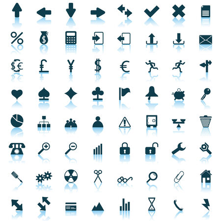 rubbish cart: Biggest collection of different icons for using in web design
