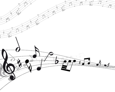 Vector musical notes staff background for design use Stock Vector - 6094486